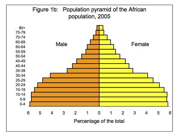 population pyramid black